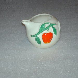 Pippin USA Pottery creamer with apple design